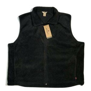 NWT Woolrich Andes ll Fleece Vest Black Full Zip